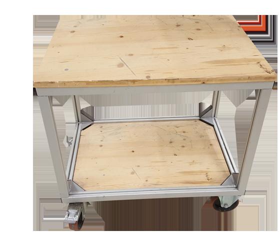 Tischwagen Werkstatttisch auf Rollen